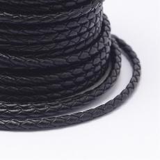 5 mm fonott bőrszál fekete 1 cm